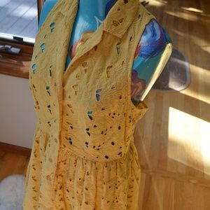 Top Shop Yellow Button Up Dres